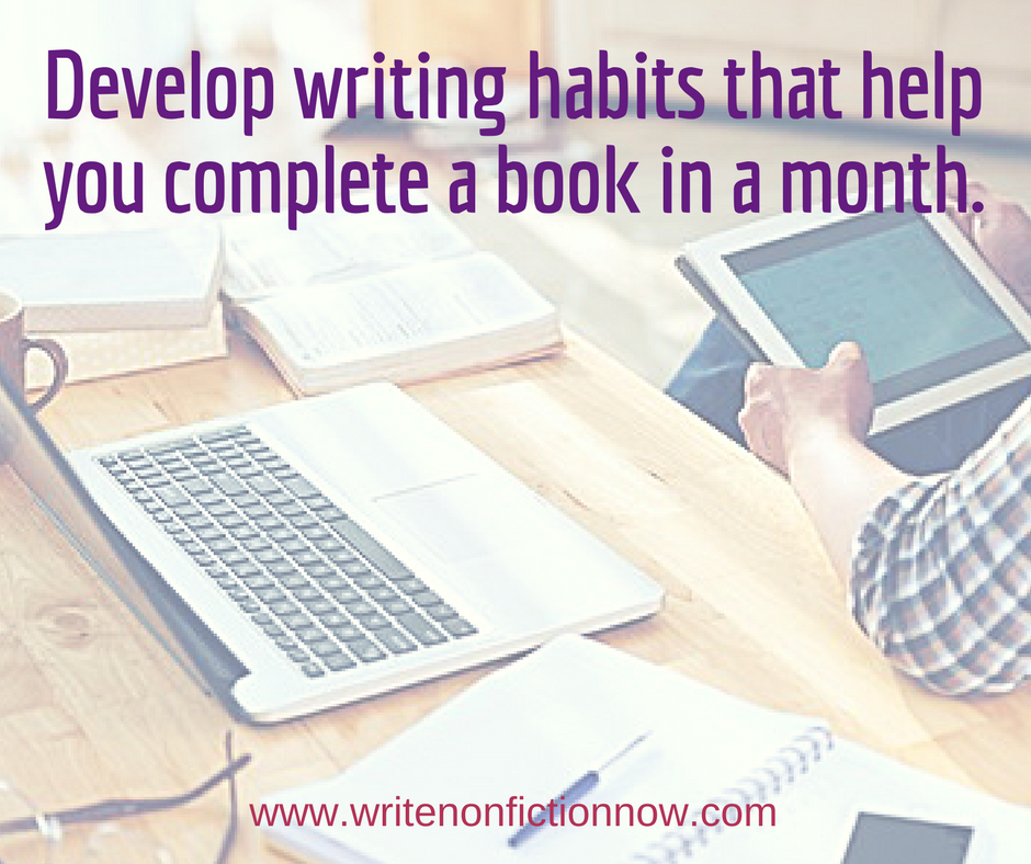 5 Must-Have Habits for Writing a Book in a Month