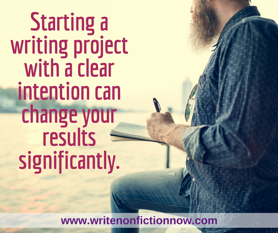 intentions for improved writing results