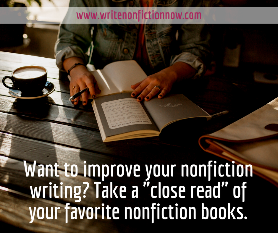 improve nonfiction writing with close read