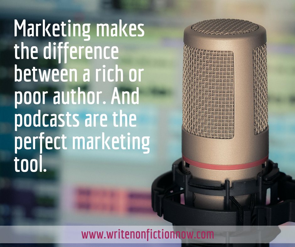 authors use podcasts to market books