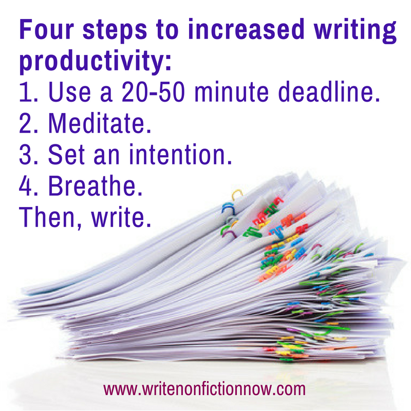 become a productive writer