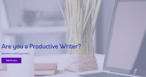Discover if you are a productive writer.
