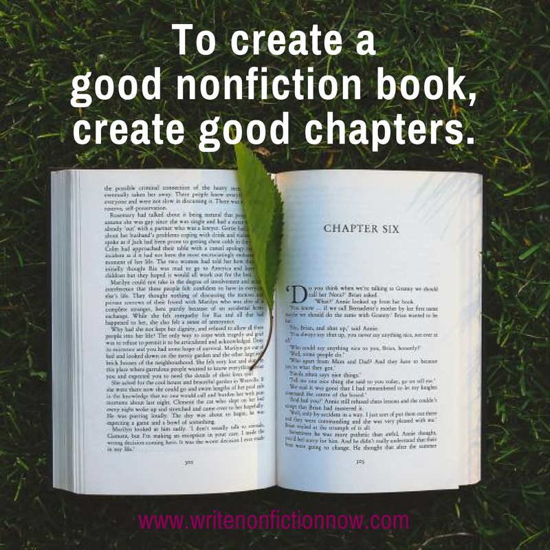 good books require good chapters