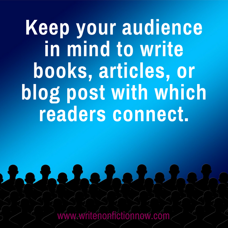 audience for books, blogs, articles