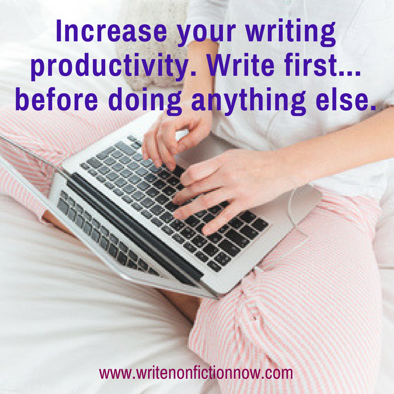 write first to increase productivity