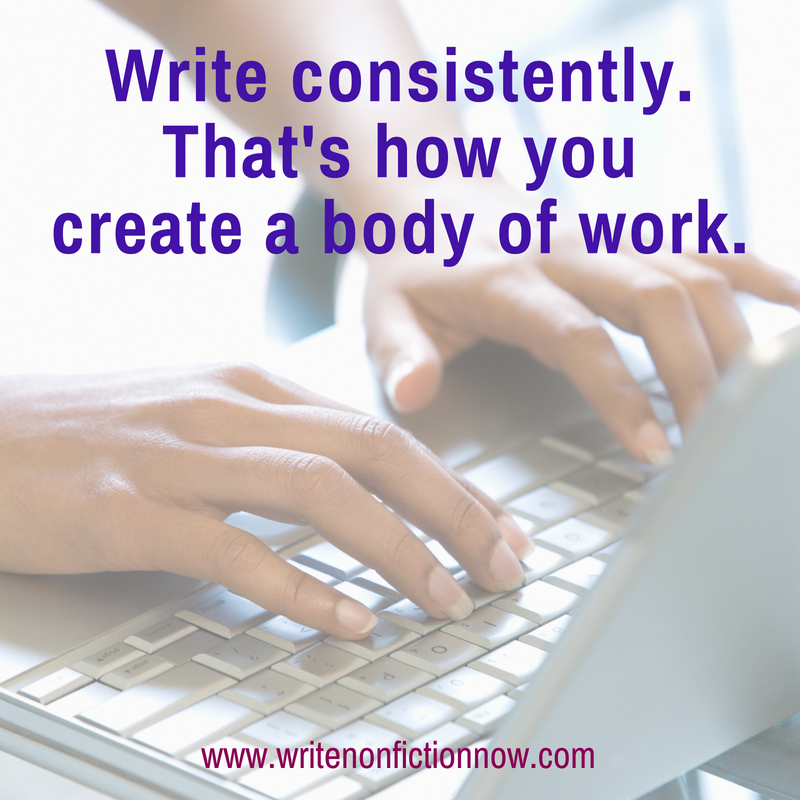 write consistently for success