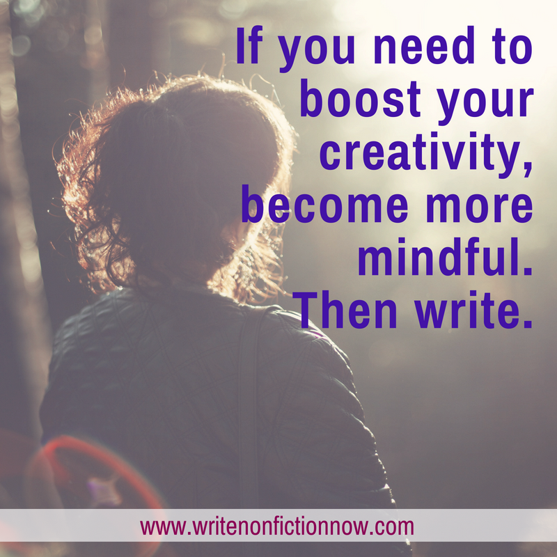 boost writing creativity with mindfulness meditation
