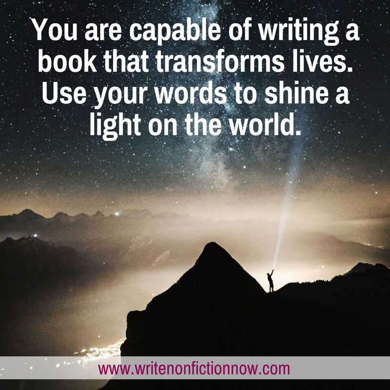 you can write a transformational book