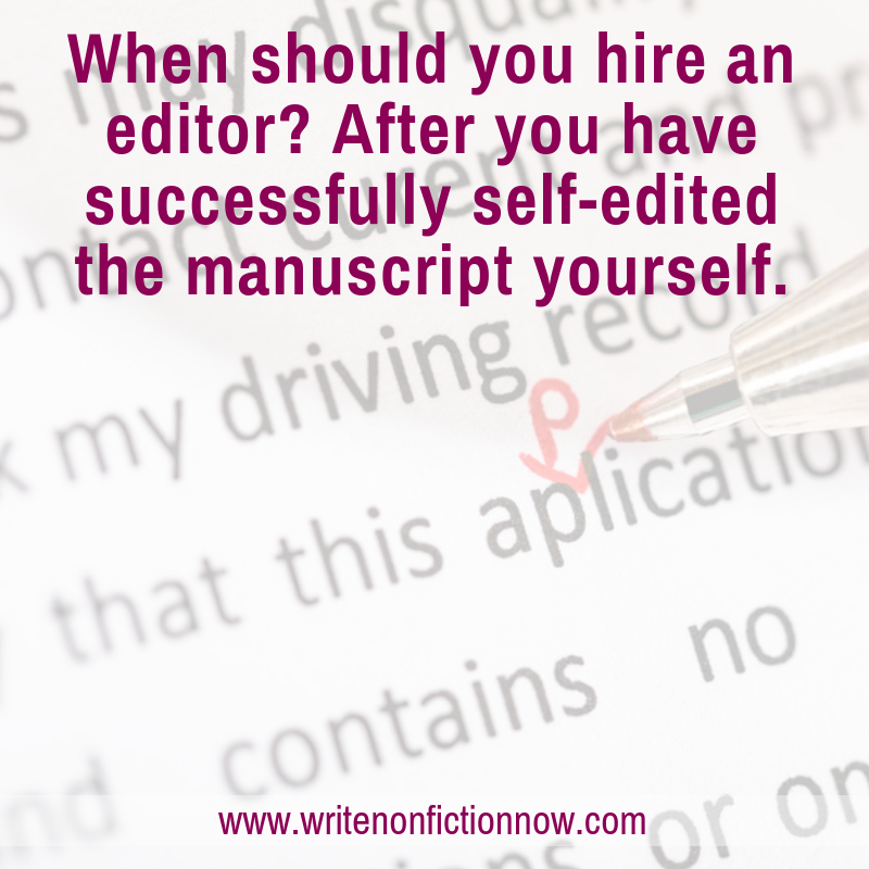 nonfiction self-editing tips
