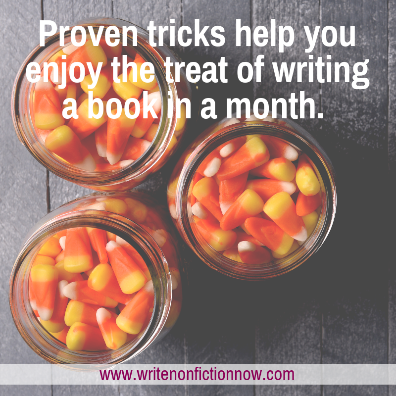 6 Scary-Good Tricks to Help You Write a Book in a Month