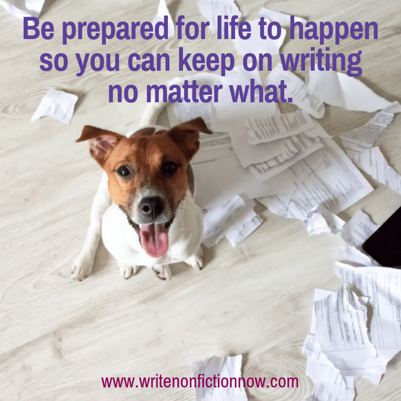 write no matter what life throws your way