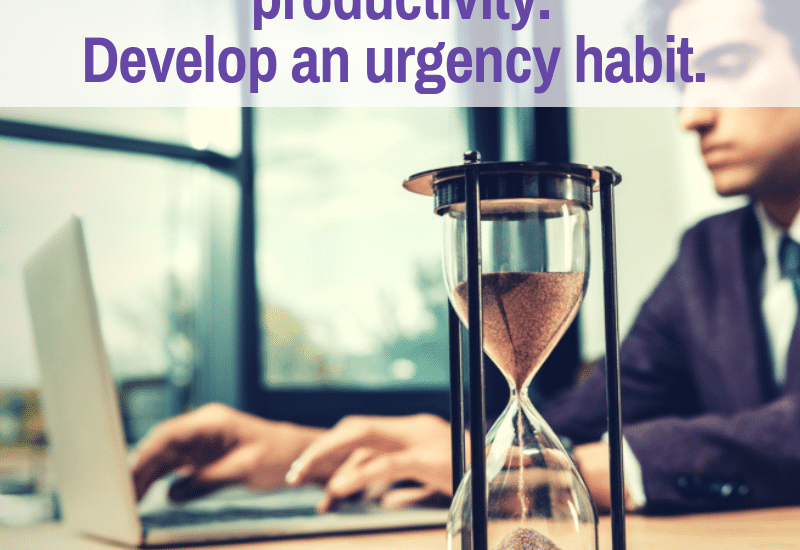 urgency habit for writers to become more productive