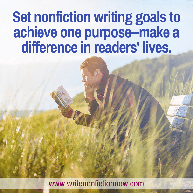 nonfiction writer's goal: make a difference