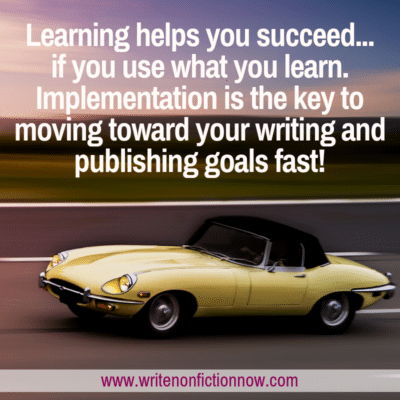 The One Thing that will Speed Up Your Writing and Publishing Progress