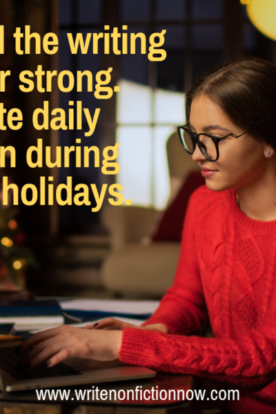 How to write daily during the holidays