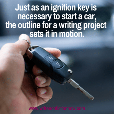 an outline is the perfect way to start a writing project