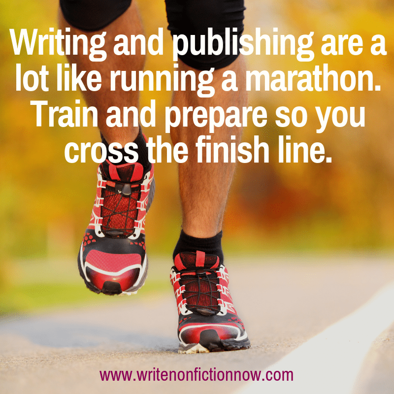 writingand publishing are like a marathon