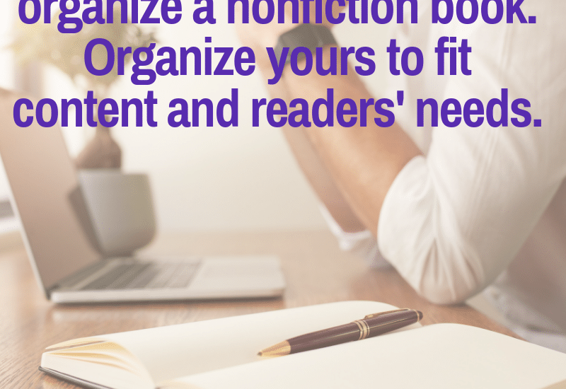 how to organize nonfiction book content