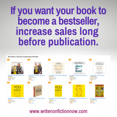 3 Activities that Increase Sales Before You Publish Your Book