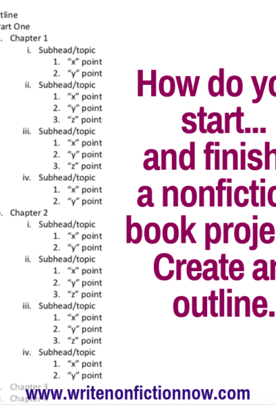 nonfiction book outlining