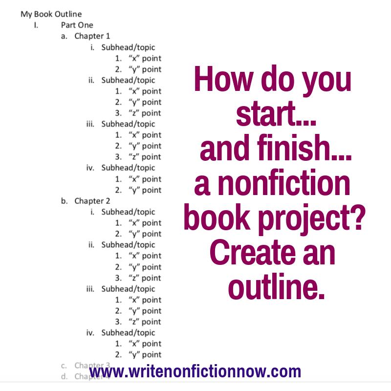 nonfiction book outline