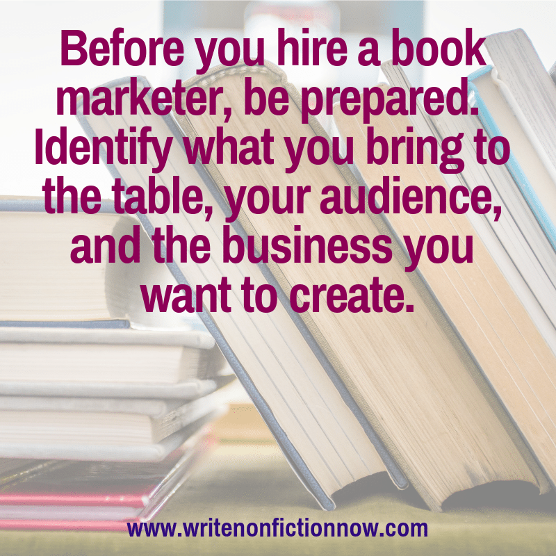 book marketer for nonfiction