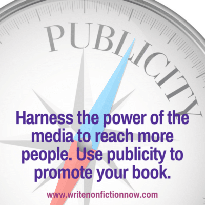 how to use publicity to market a book