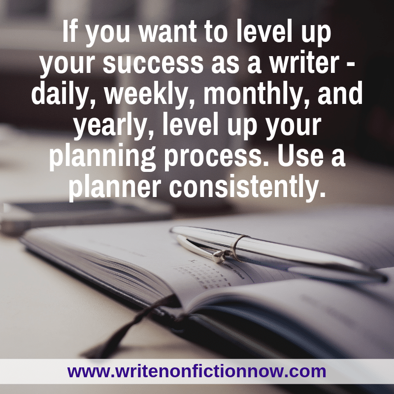 level up your writing by using a planner