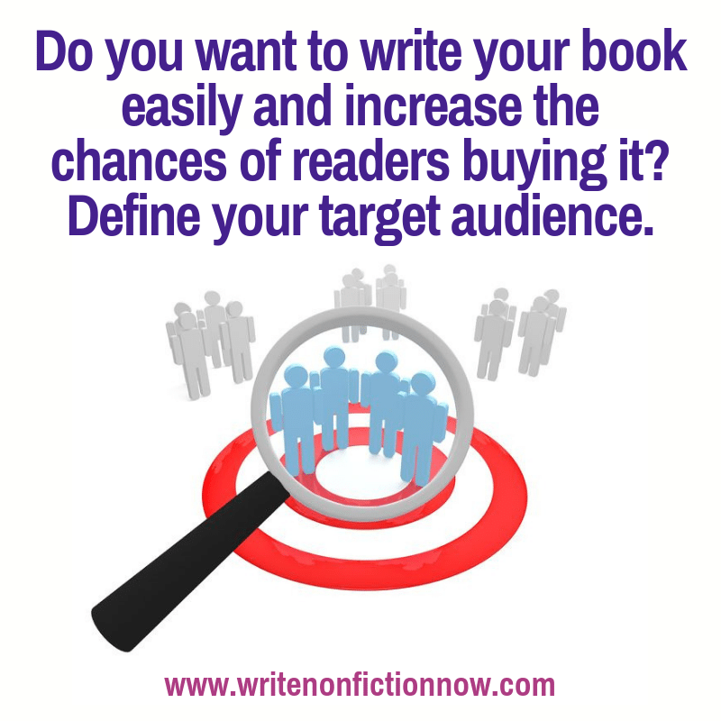 Nonfiction authors need to define a target audience