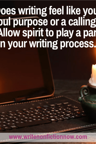 spiritual writers allow spirit to pay a part in the writing process