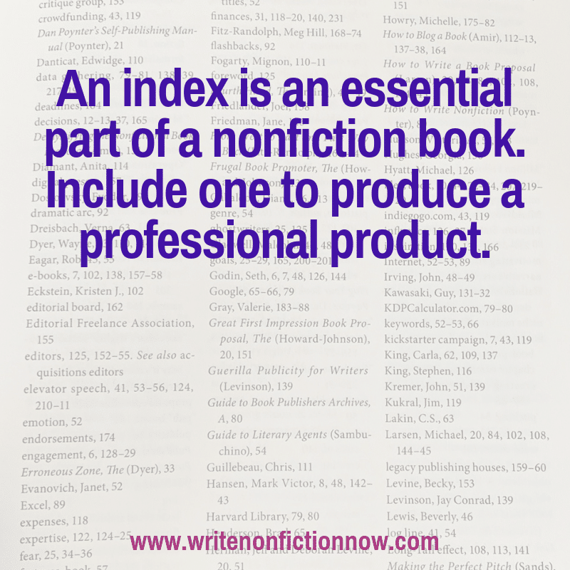 Does your nonfiction ebook, paperback or hardcover book need an index?