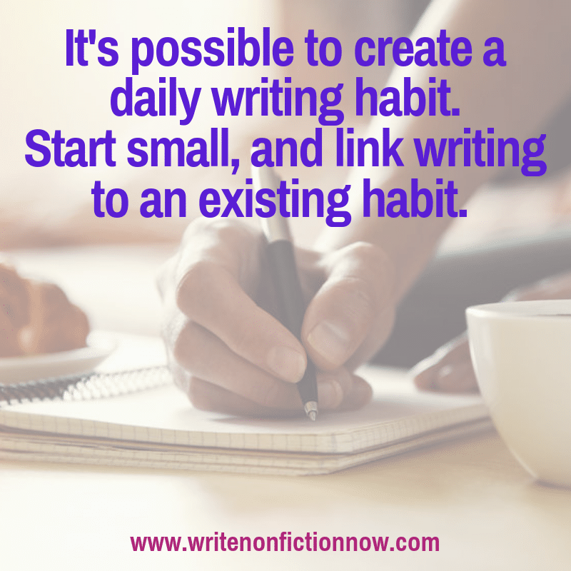how to develop the habit of writing daily