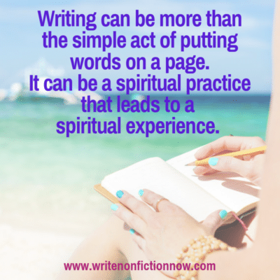 Writing as a Spiritual Practice