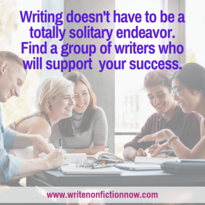 Join a Writers' Group to Help Meet Your Nonfiction Writing Goals