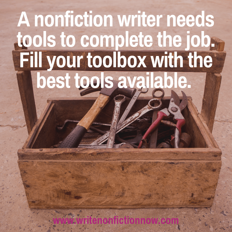 nonfiction writers need a lot of great tools for the publishing journey