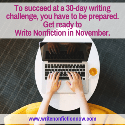 Your Write Nonfiction in November Challenge Preparation Checklist