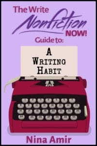 how to develop a writing habit