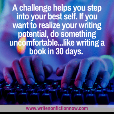 writing challenge helps you step into your best writing self