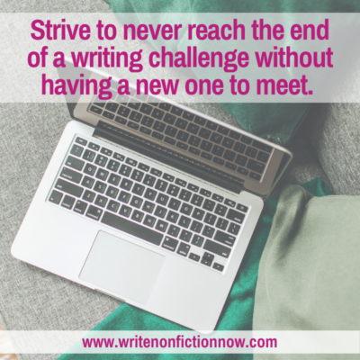 Why You Should Never Reach the End of a Writing Challenge