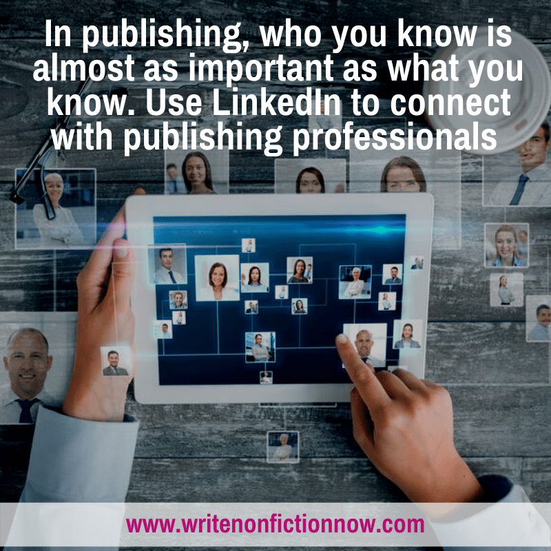 connected with publishing professionals using LinkedIn