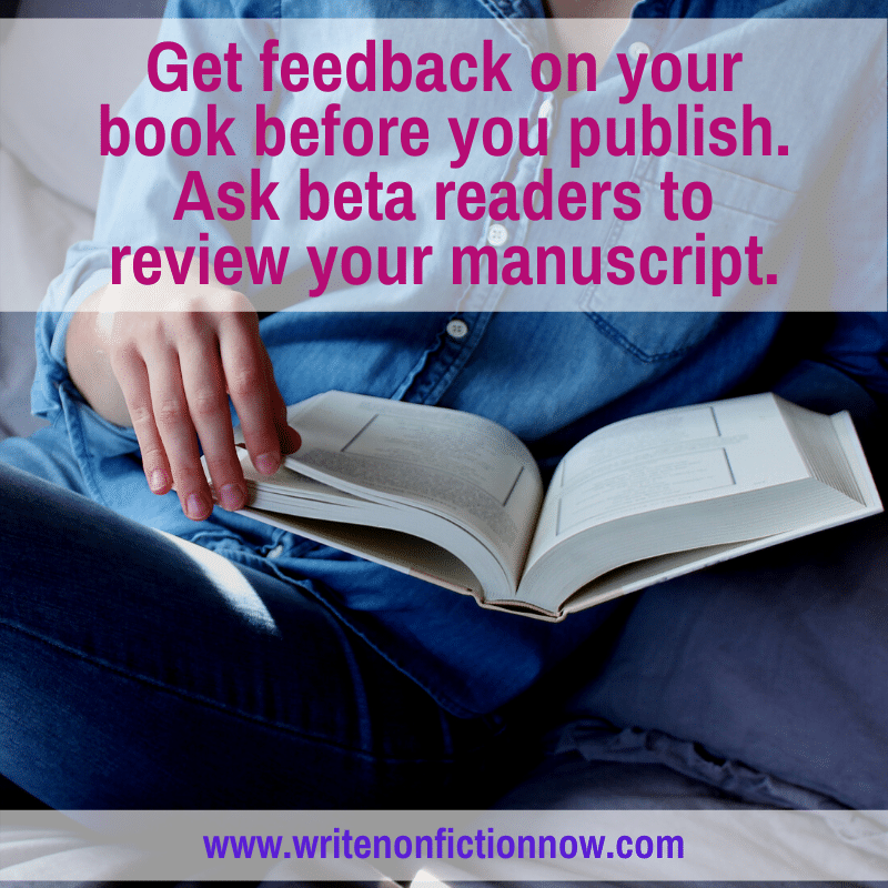 beta readers for a nonfiction book