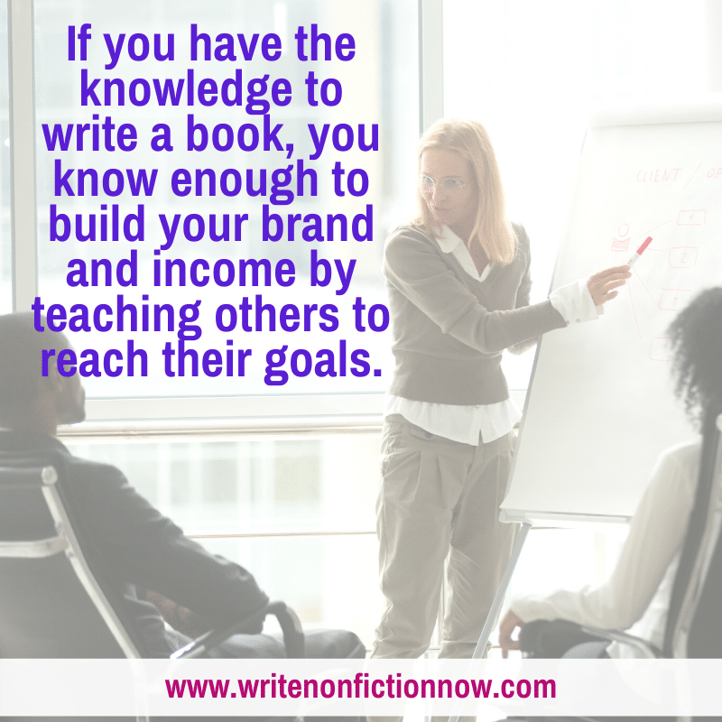 authors build brand and income by teaching what they know