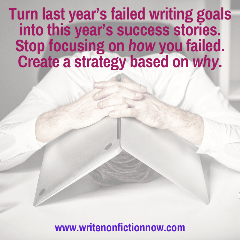failed writing goals