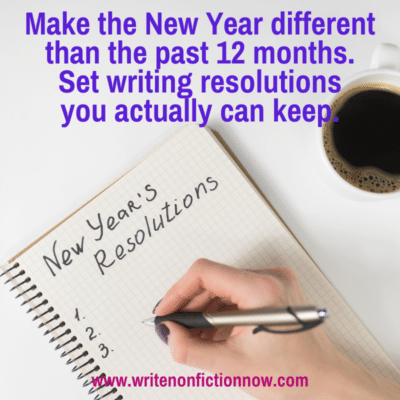 set writing resolutions you can keep in the New Year
