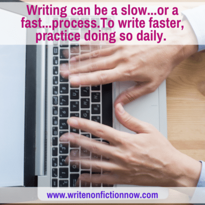 learn to write faster