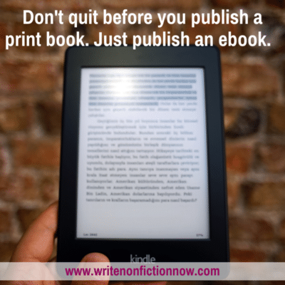 you can only publish an ebook