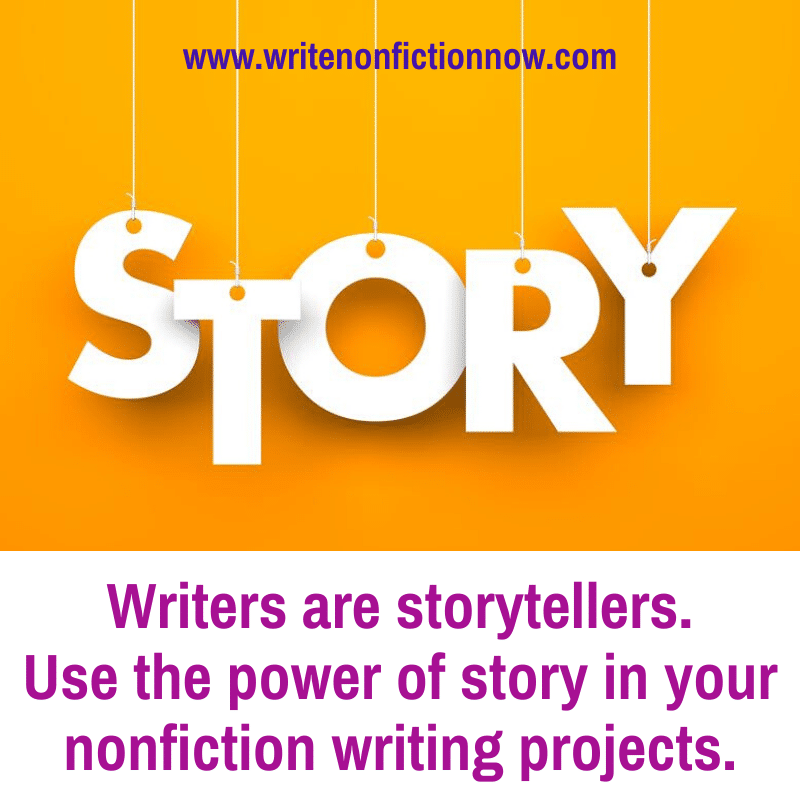 Nonfiction writers use storytelling to connect with readers