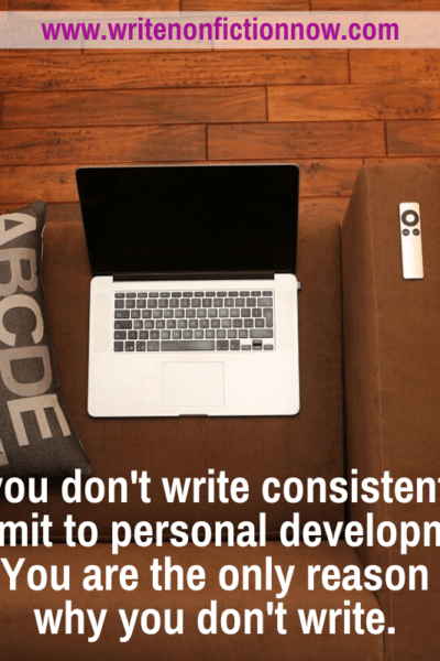 why you don't write consistently even when you have the time
