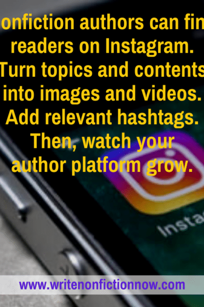 How nonfiction writers and authors use Instagram to build readership