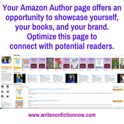 How to Make the Most of Your Amazon Author Page